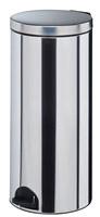 Acheter poubelle à pédale métal 30L inox rossignol sanelia