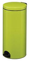 Acheter Poubelle à pédale métal 30L vert anis rossignol sanelia