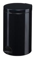 Acheter Poubelle à pédale métal 20L noire rossignol sanelia