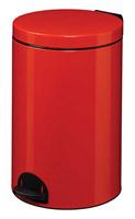 Acheter Poubelle à pédale métal 20L rouge rossignol sanelia