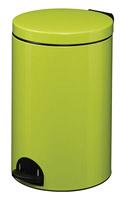 Acheter Poubelle à pédale métal 20L vert anis rossignol sanelia