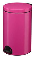 Acheter Poubelle à pédale métal 20L rose rossignol sanelia