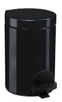 Acheter Poubelle à pédale métal 3L noire rossignol sanelia