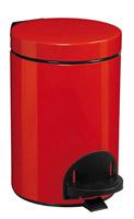 Acheter Poubelle a pedale métal 3L rouge rossignol sanelia