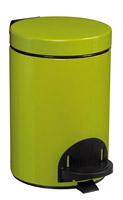Acheter Poubelle a pedale métal 3L vert anis rossignol sanelia