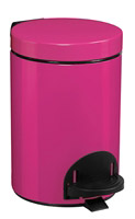 Acheter Poubelle a pedale métal 3L rose rossignol sanelia