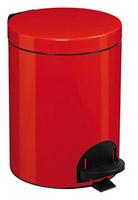 Acheter Poubelle à pédale Rossignol métal 5L rouge