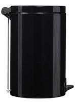 Acheter poubelle à pédale métal 14L noir rossignol sanelia
