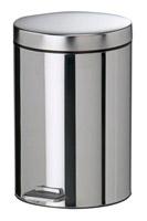 Acheter Poubelle a pédale 12 litres acier inox