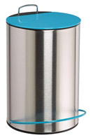 Acheter Poubelle a pedale 5 litres bleu