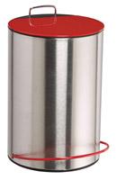Acheter Poubelle a pedale 5 litres rouge