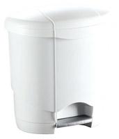 Acheter Poubelle a pedale 4 L plastique blanche