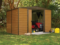 Acheter Abri de jardin Arrow en acier galvanisé 4m2 imitation bois
