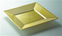 Acheter Assiette jetable couleur or carré 180 x 180 colis de 72