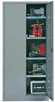 Acheter Armoire metallique d'atelier 2 portes battantes 4 tablettes
