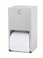 Acheter Distributeur de papier toilette double rouleaux Inox mural