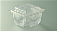 Acheter Barquette micro ondes à couvercle à charnière 375 grs