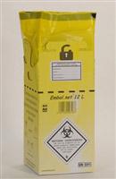 Acheter Caisse DASRI dechets infectieux 12 L norme NFX 30507 paquet de 10