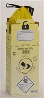 Acheter Caisse DASRI dechets infectieux 25 L norme NFX 30507 paquet de 10