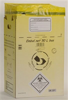 Acheter Caisse DASRI dechets infectieux 50 L NFX 30507 basse paquet de 10