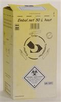 Acheter Caisse DASRI dechets infectieux 50 L NFX 30507 haute paquet de 10