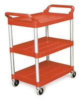 Acheter Chariot service hotellerie Rubbermaid rouge