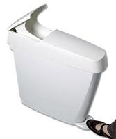 Acheter Poubelle hygiene féminine Sanibin frontale 20L blanche
