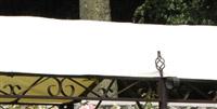 Acheter Toile impermeable tonnelle jardin Seville Azur adossee 400grs PET PVC
