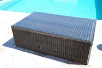 Acheter Table basse resine tressee Mikonos fil rond prestige