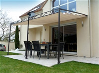 Acheter Tonnelle de jardin toile coulissante adossee Andalouse Prestige 2013