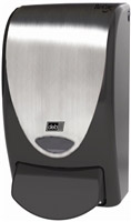 Acheter Distributeur de savon design Deb noir langette chrome