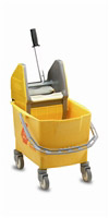 Acheter Chariot de menage Rubbermaid combo bravo 25 L jaune avec presse