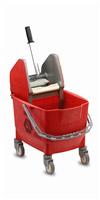 Acheter Chariot de menage Rubbermaid combo bravo 25 L rouge avec presse