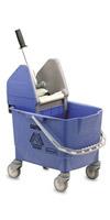 Acheter Chariot de menage Rubbermaid combo bravo 25 L bleu avec presse