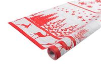 Acheter Nappe Noel décor rouge 1,18x25m