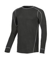 Acheter T-shirt manches longues de travail noir alpin