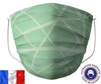 Acheter Masque lavable Barral vert zig zag