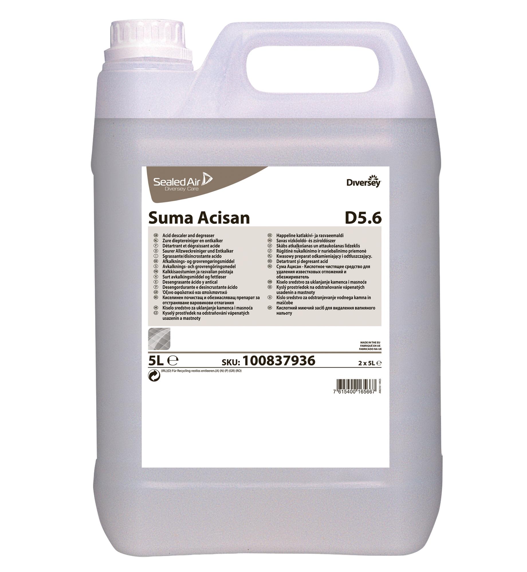 Desincrustant acide suma acisan d5 6 for Nettoyant pvc professionnel
