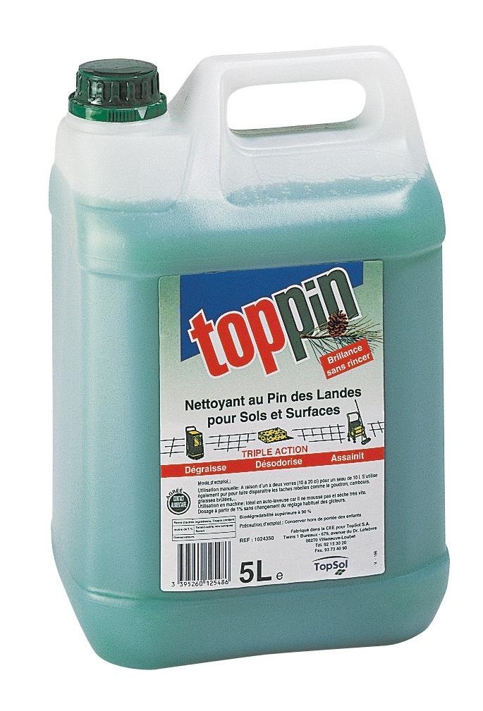 Toppin nettoyant sol parfum pin bidon de 5 l for Produit nettoyant carrelage