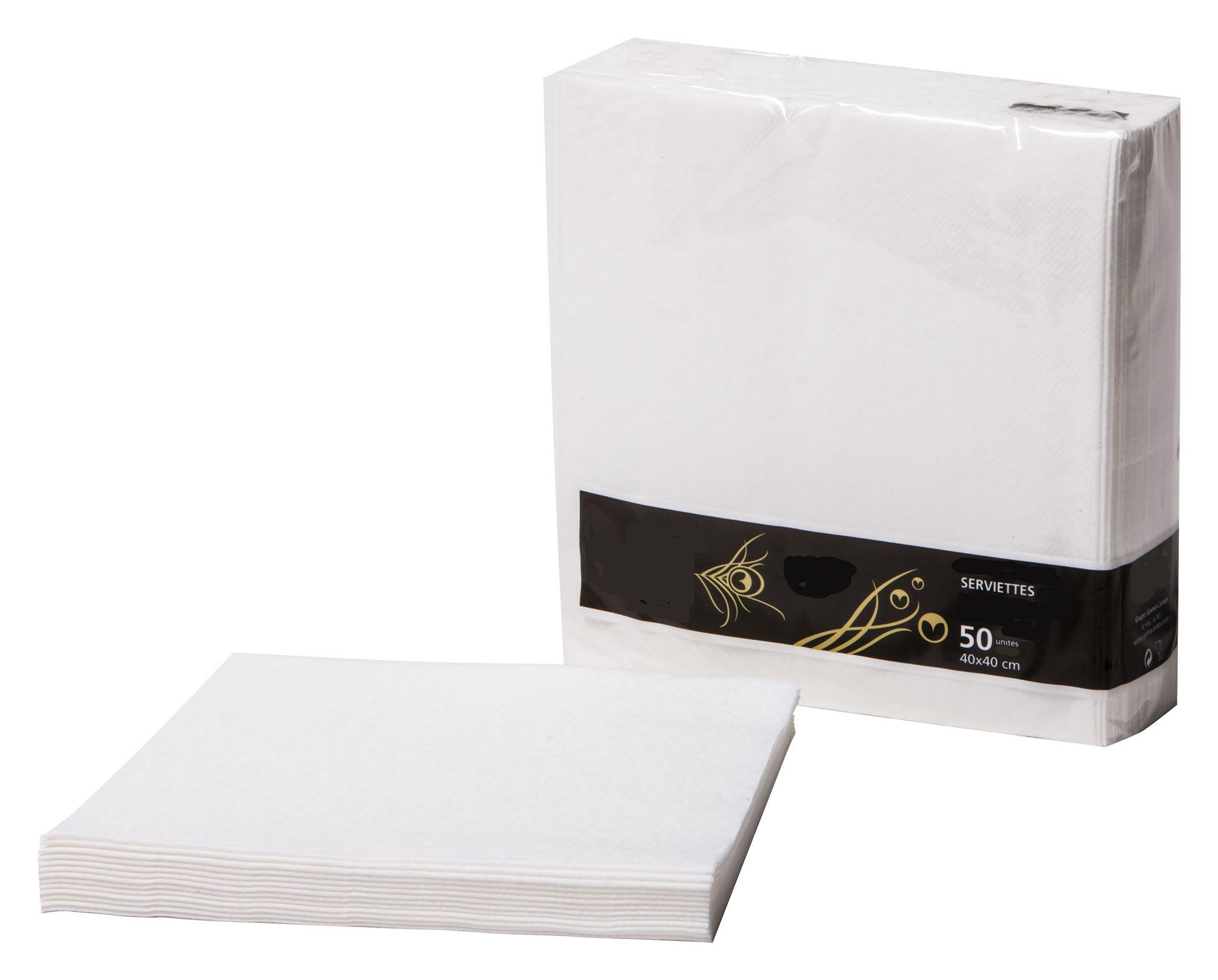 Serviette papier non tiss/ée Ivoire par 50