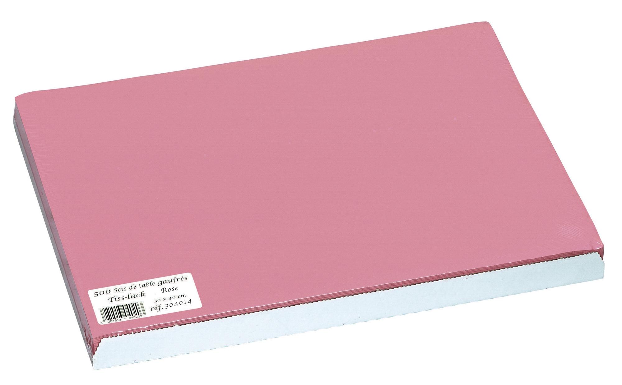 Set de table papier 30 x 40 rose paquet de 500 for Set de table papier