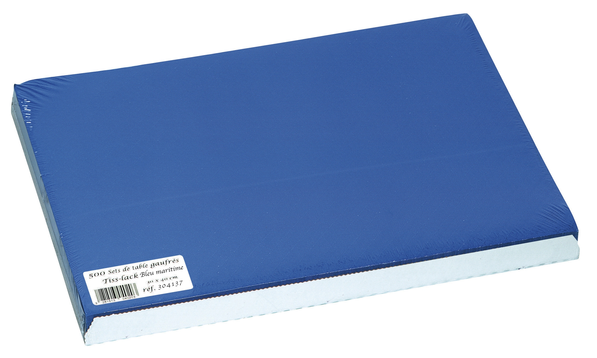 Set de table papier 30 x 40 bleu maritime paquet de 500 for Set de table bleu