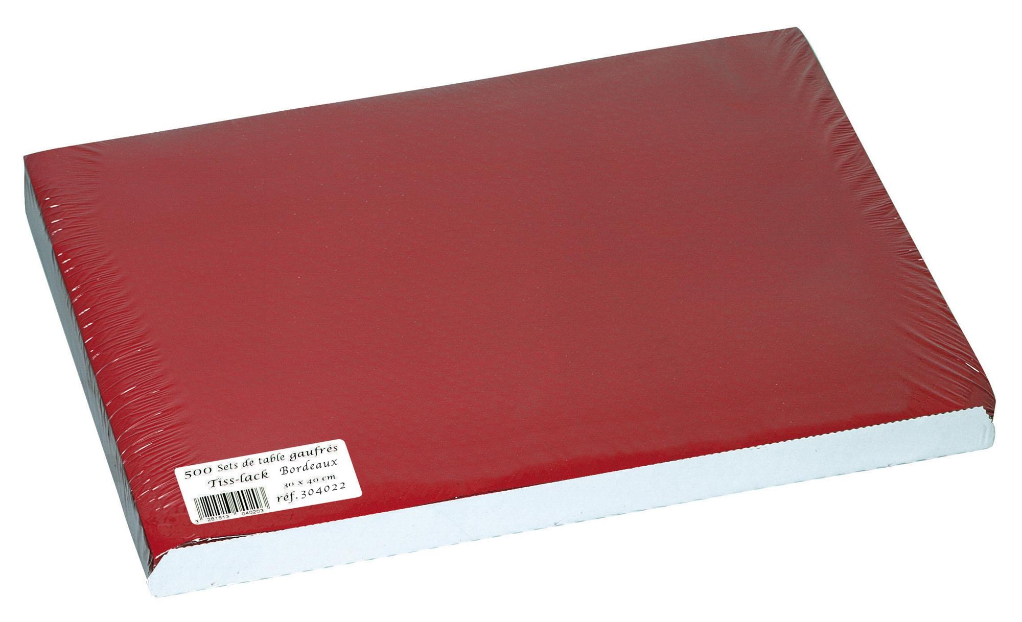 Set de table papier 30 x 40 bordeaux paquet de 500 for Set de table papier