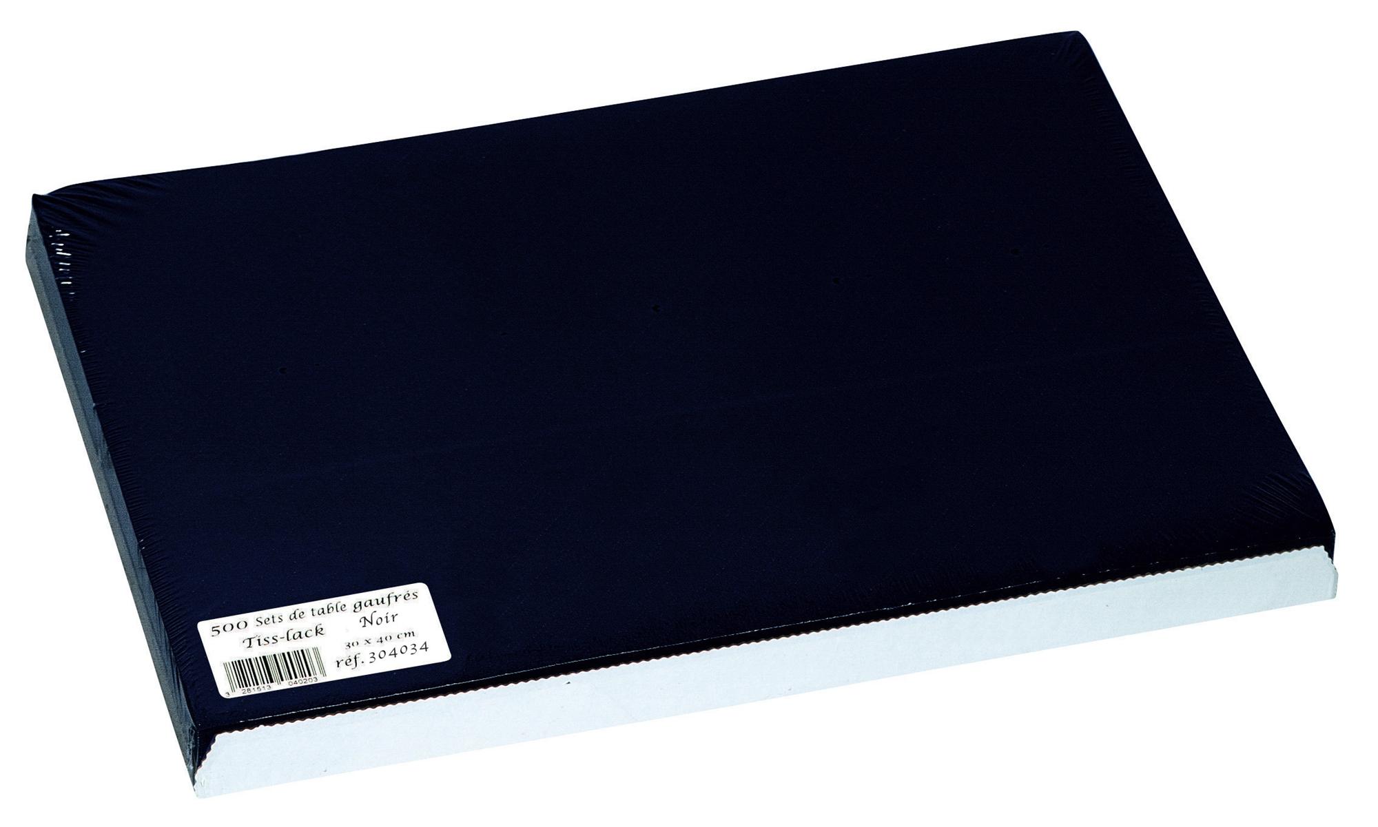 Set de table papier 30 x 40 noir paquet de 500 - Set de table noir ...