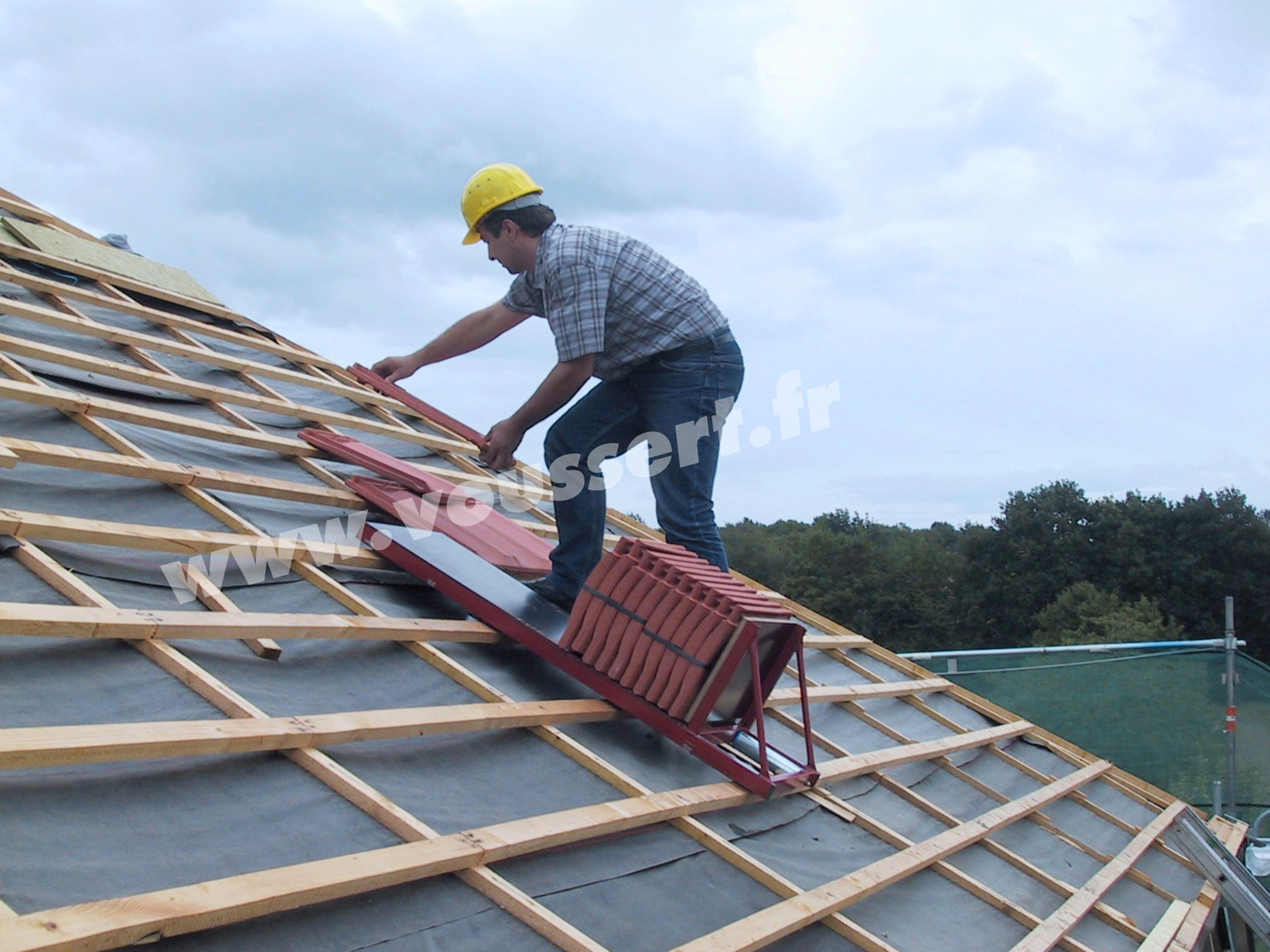 Accessoire chariot de toiture pour couvreur.