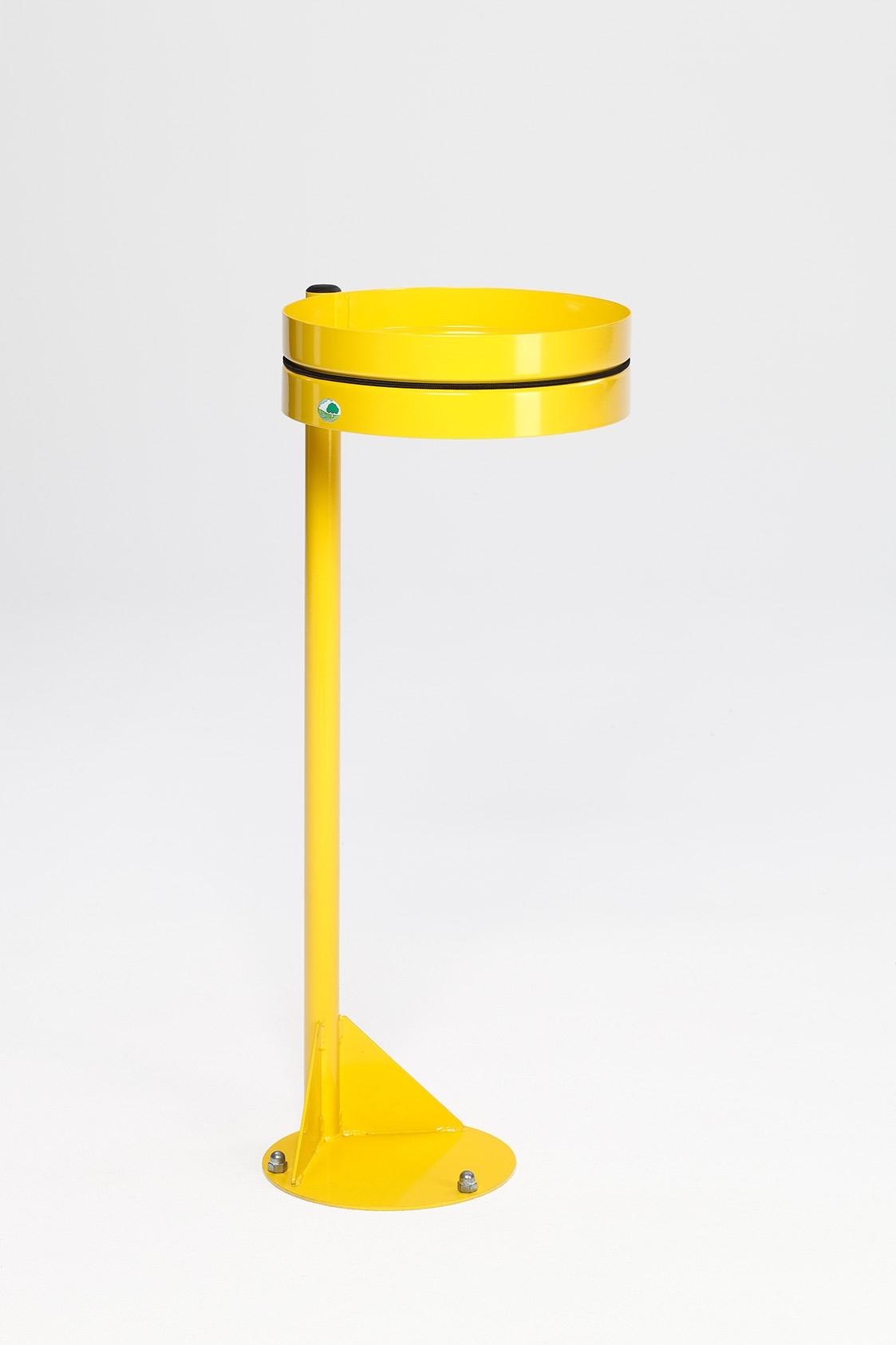 support sac poubelle mural vigipirate jaune. Black Bedroom Furniture Sets. Home Design Ideas