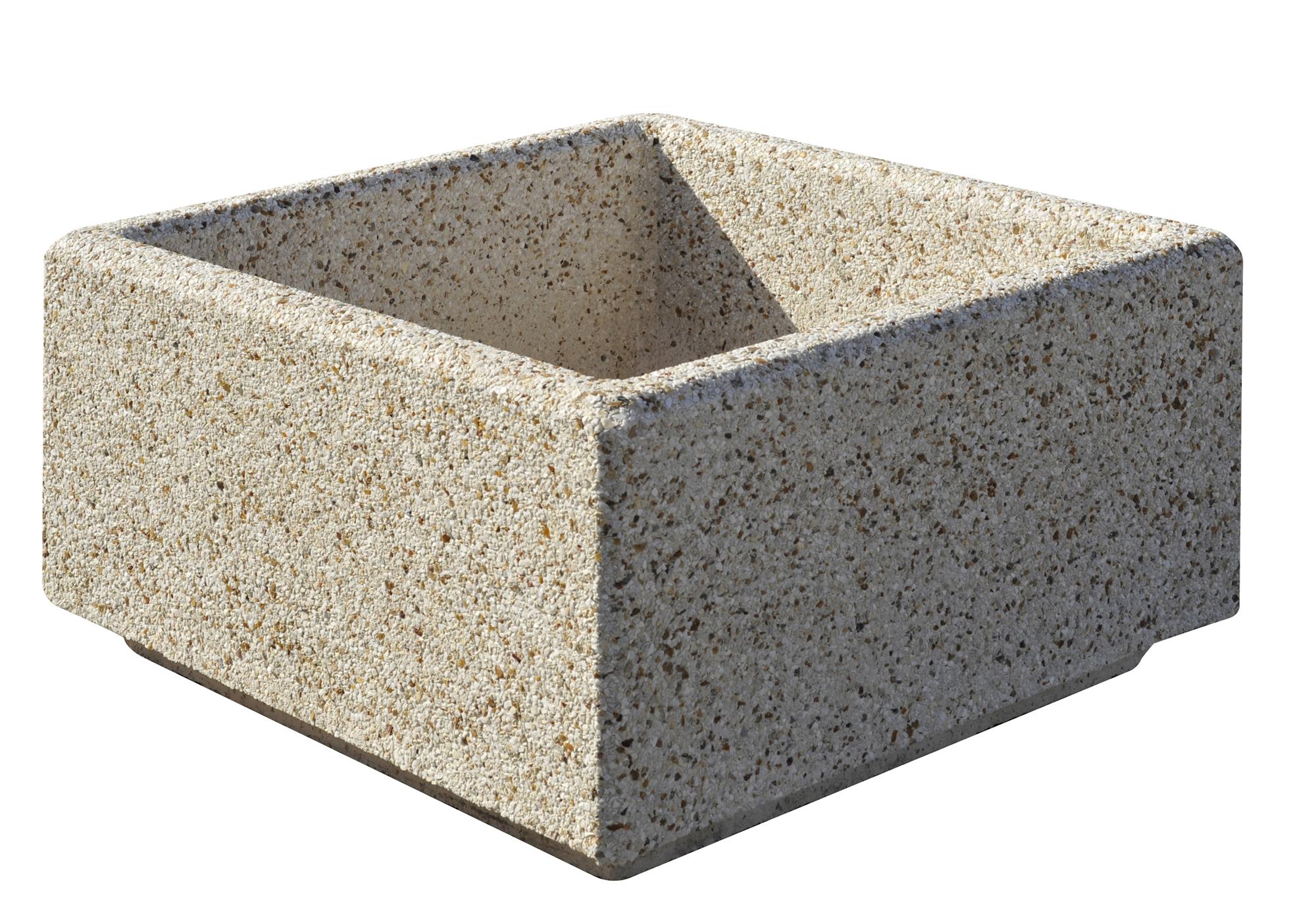 Jardini re en b ton alo s 100x100ht50 lav auvergne - Jardiniere en beton ...