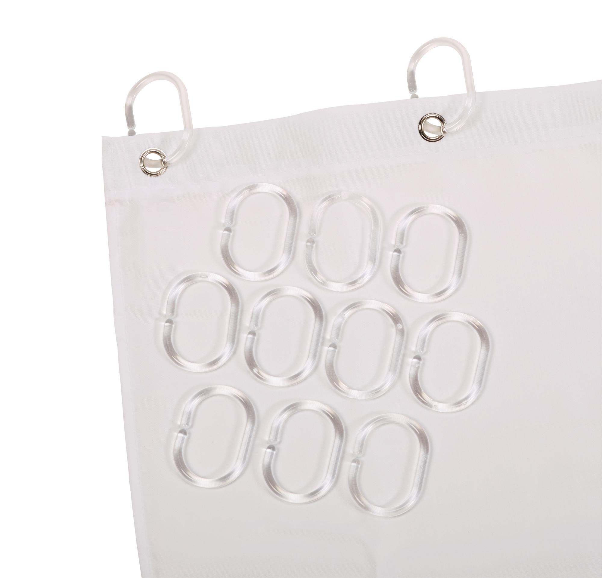anneaux pour rideau de douche lot de 12. Black Bedroom Furniture Sets. Home Design Ideas