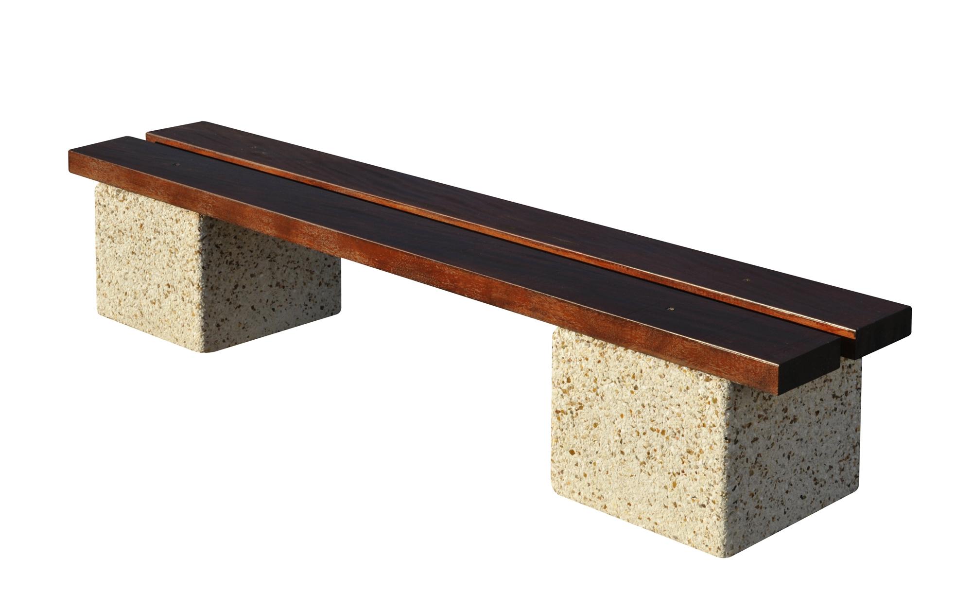 Banc d 39 ext rieur arcade en bois et b ton lav auvergne Table banc bois exterieur