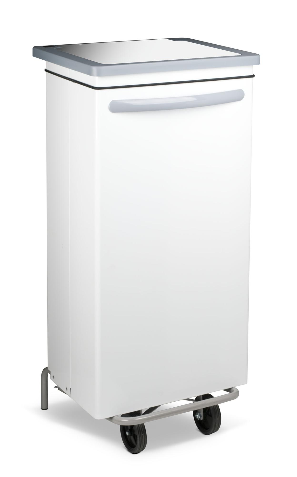 Poubelle cuisine blanche haccp car n e 100 litres - Poubelle de cuisine automatique 30 litres ...